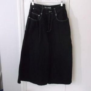 Kik Wear Black Button Fly Wide Jeans/Short 30x21